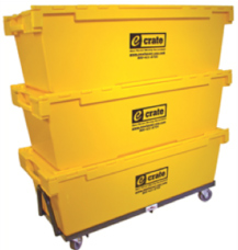 moving crates offered as part of our commercial moving services